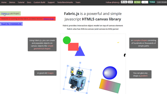 imagem principal do post FabricJS - biblioteca javascript para manipulação de canvas